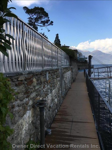 View of the Nicely Finished Lakefront Path Access through our Private Gate, that Connects the Guest to a Unique 4km Long Lakefront Path