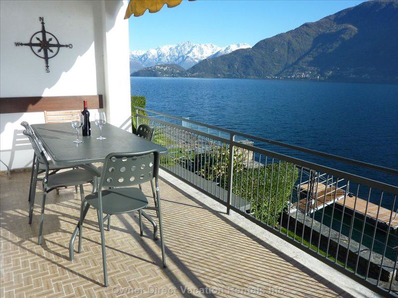 Dine 'a La Fresca' for 6 People Every Day with Stupendous Views of the Alps, and the Gorgeous Lake.