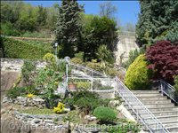Stairs Wind through the Mature Specimen Plants Inviting you to the Property