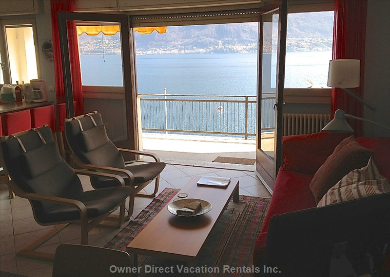 Open the Double French Doors from the Living Room and Soak up the Incredible Lake Como Ambiance