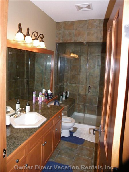 Main Bathroom with Steam Shower