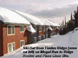 Mogul Track Ski Trail along Side of Timber Ridge