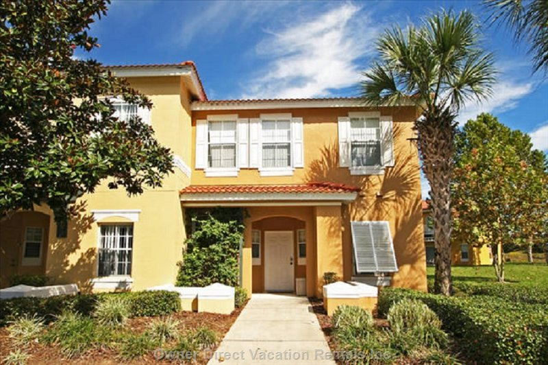 3br 2.5ba Townhome, End Unit with Balcony and Patio in Gated Resort