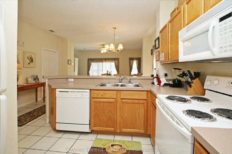 Open Fully Equipped Kitchen