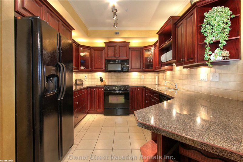 Kitchen - Fully Equipped with Place Settings for 6. Great Ice Maker and Wine Fridge.
