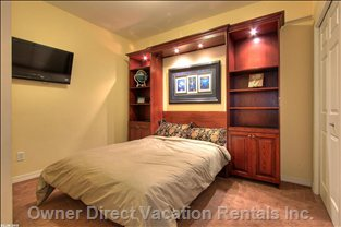 Queen Size Murphy Bed with Flat Screen TV