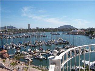 View from the Balcony, Overlooking the Marina, Marina EL Cid, and the Pacific Ocean - Facing South West