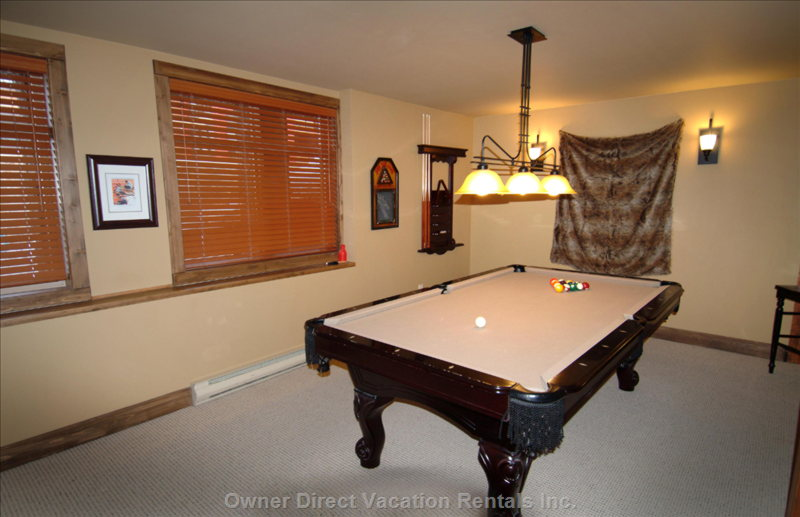 Full Size Pool Table in Bonus Room