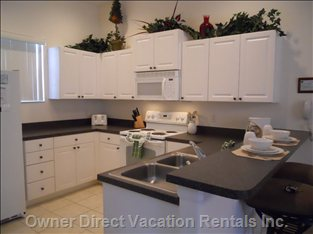 Typical Kitchen - Full Kitchen with Dishwasher plus Washer and Dryer