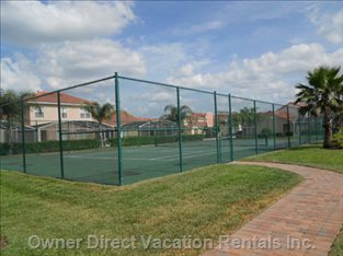 Communal Tennis Courts - Please Note There is Also a Sand Volley Ball Court