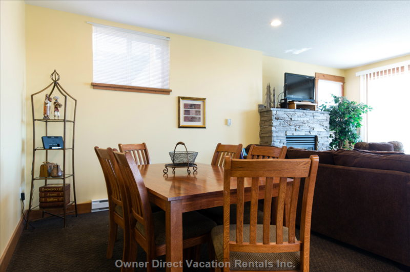 The Dining Table has Ample Space for your Family Meals Together.