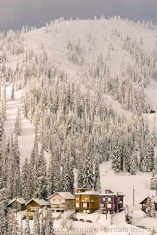What a Setting. Goldrush & Purple Palace Sit at the Base of Christmas Bowl. It's Steps from Alpine Meadows Lift & Mainway Ski Bridge.