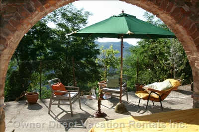 Sunny Terrace with Views over the Valley