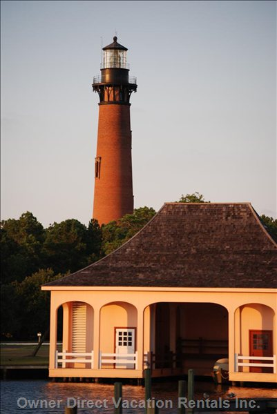The Currituck Lighthouse: a Working Lighthouse Just up the Road on the Sound.