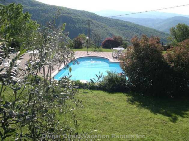 View of Pool in Rolling Hills