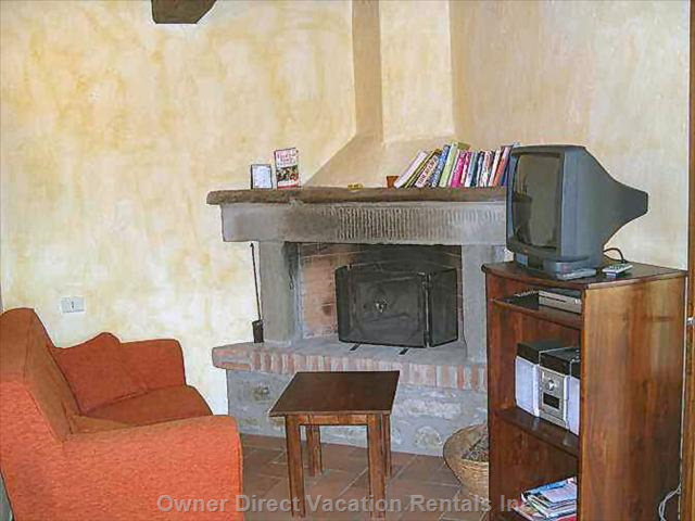 Stone Fireplace Dated Xix° Centuries