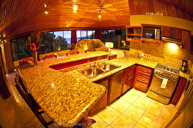 Great Fully Equipped High-Tech Kitchen