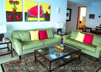 Living Room, with Original Art
