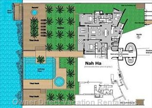 Floor Plan- all Rooms Have a View of the Ocean