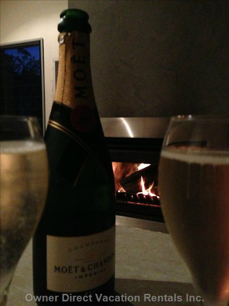 The Perfect Honeymoon - Sip Champagne in Front of the Wood Fire