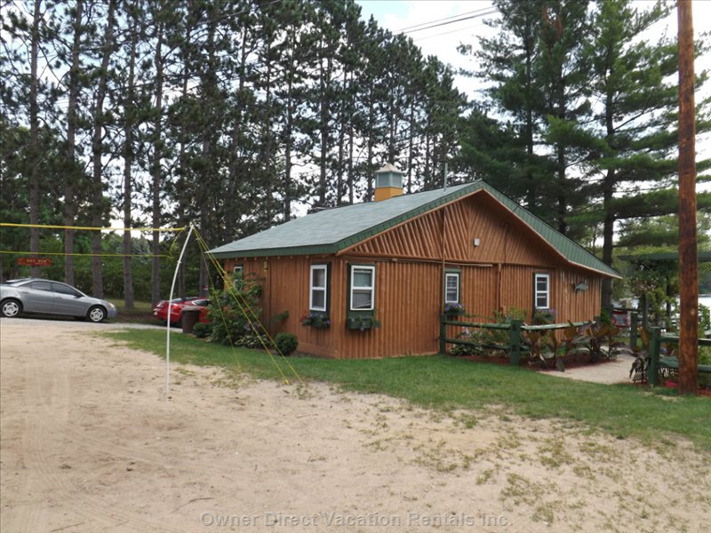 Cabin has 3 Bedrooms I has 2 Full Size Beds and 3 Twin Beds Sleeps up to Seven People. Cabin is 50 Feet from the Lake