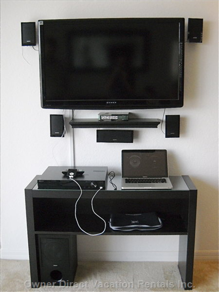 Living Room - Flatscreen TV and Sound System