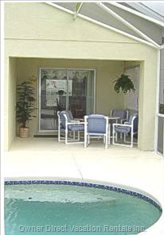 Covered Lanai with Patio Dining Furniture
