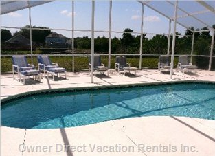 Large Private Screened Pool