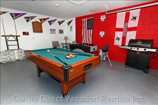 Games Room with Table Soccer and Darts