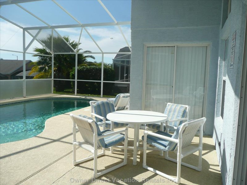 Dine Outside in the Shade, Or Enjoy the Florida Sunshine While you Swim Or Relax.