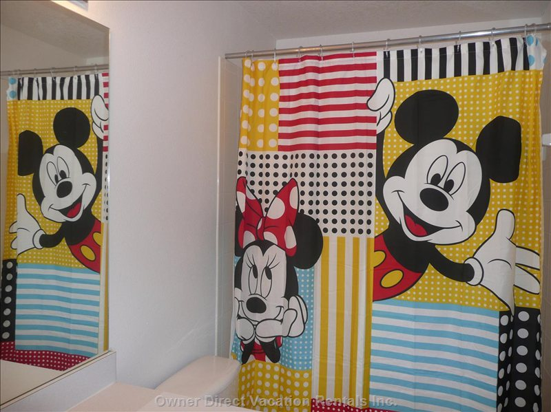 Bathe with Mickey in the 3rd Bathroom