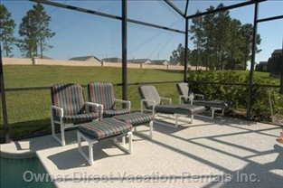 Patio Area for Full Sun and Luxury Upgraded Patio Furniture.