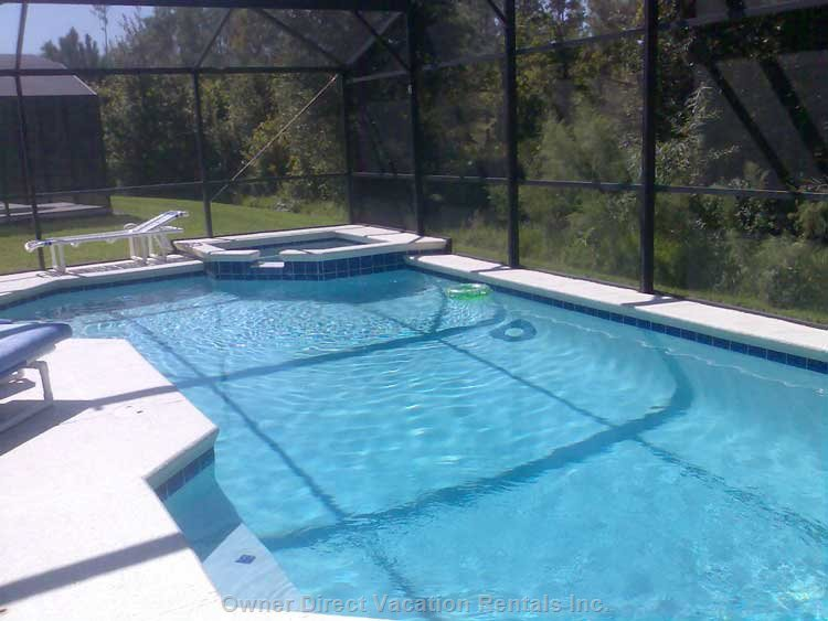 A Huge 30x15ft Pool and Jacuzzi  - the Pool Area is in a Wonderful Setting and Very Private.