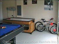 Games Room  - another View of the Games Room with Mountain Bikes for you to Use.