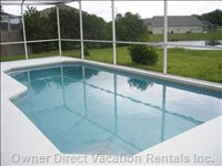 Fully Enclosed Lanai with Pool Furniture