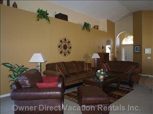 "Large Lounge Area with 45"" Flatscreen TV"