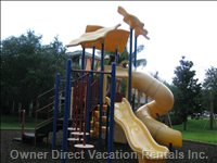 Play Structure, Located Right by the Bbq Area.
