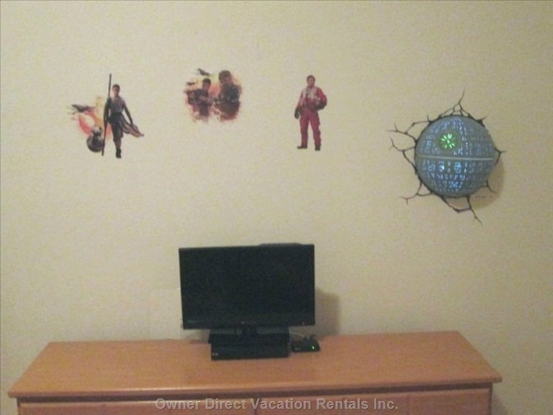 Star Wars Room Tv and Dvd Player and Death Star Nightlight with Wall Decals