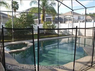 Large Pool Area within a Fully Fenced Yard