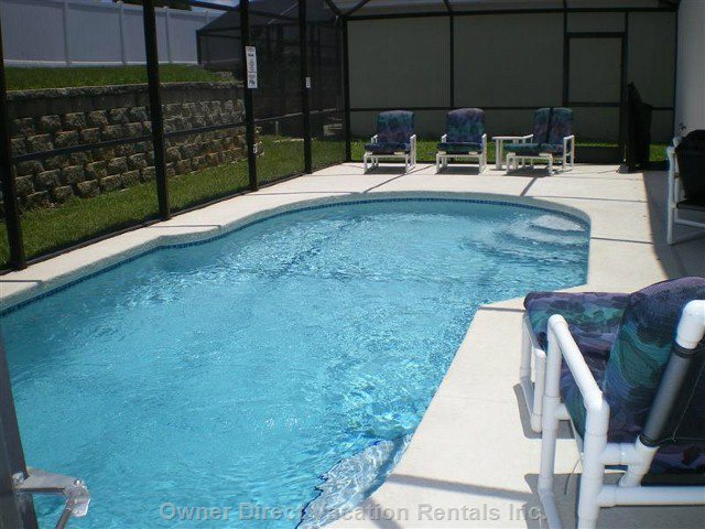 Pool Area with Extended Pool Deck with Ample Sun Loungers