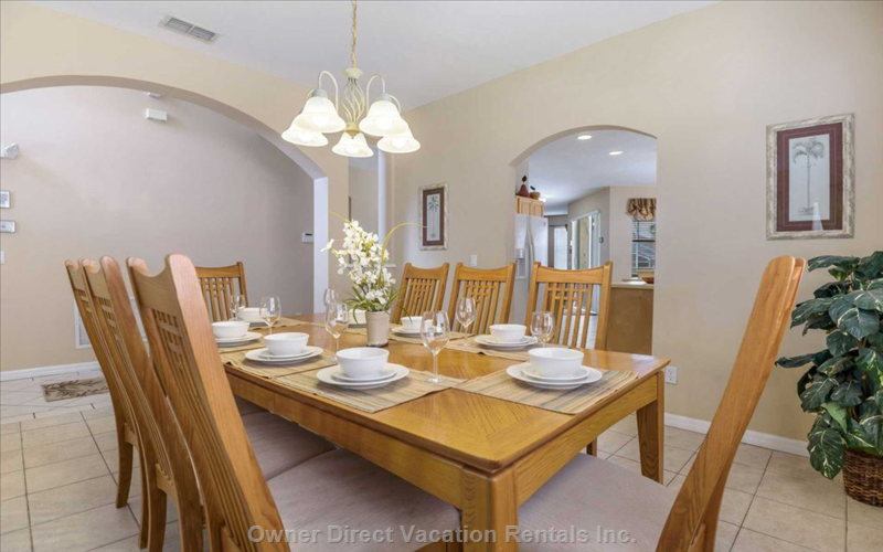 Well Equipped and Spacious Dining Area