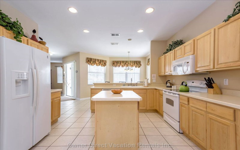 The Large, Fully-Equipped Family Kitchen