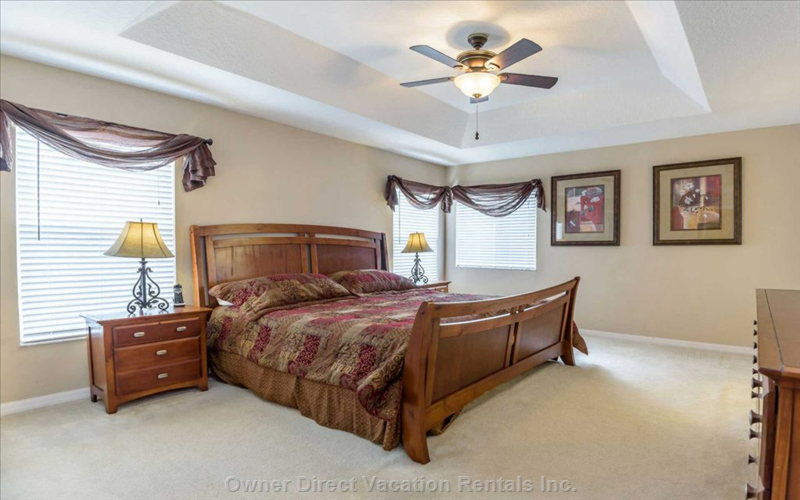 The Master Bedroom - Very Spacious with a King-Size Bed