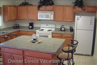 Fully Equipped Kitchen with Island