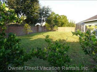 The Side Garden - There is Plenty of Room with the Third Acre Plot and you Have all this Extra Room for Added Privacy
