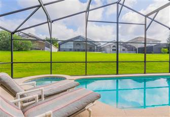 Stunning 4 Bed  Pool Villa with Games Room on Gated Community,near Disney!