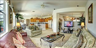 Family Room with Large Lcd Tv with Theatre Surround