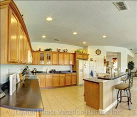 Well Equipped Large Family Kitchen