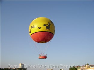 Hot Air Balloons Crossing over most Mornings from Disney