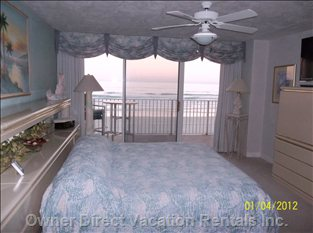 Master Bedroom View Oceanfront (this Unit)